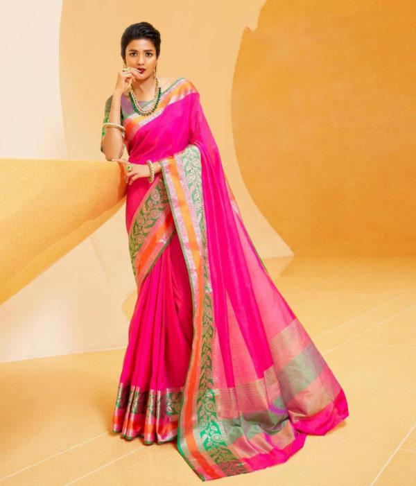 Rajtex Kundan Silk Saree DRKS-106004