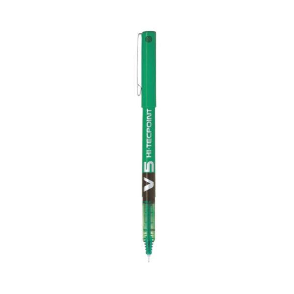 Pilot-V5-Hi-Tecpoint-Rollerball-Pen-green
