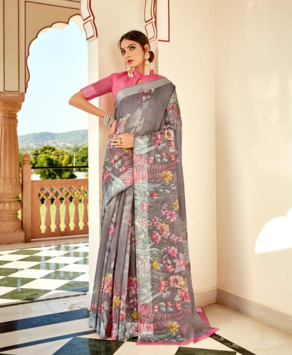 LT Fabrics Fancy Casual Wear Saree
