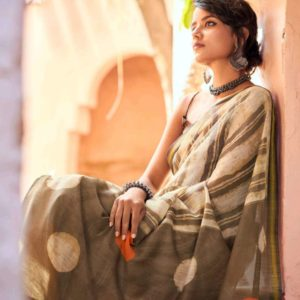 Zari Cotton Weaving Saree