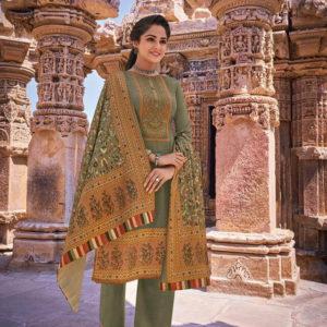 Pashmina Embroidery Salwar Suits