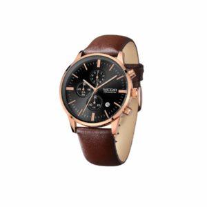 MEGIR-2011-Quartz-Watch-with-Leather-Strap
