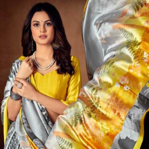 Satin Georgette Saree Bela Fashion DBSS-28089B 1