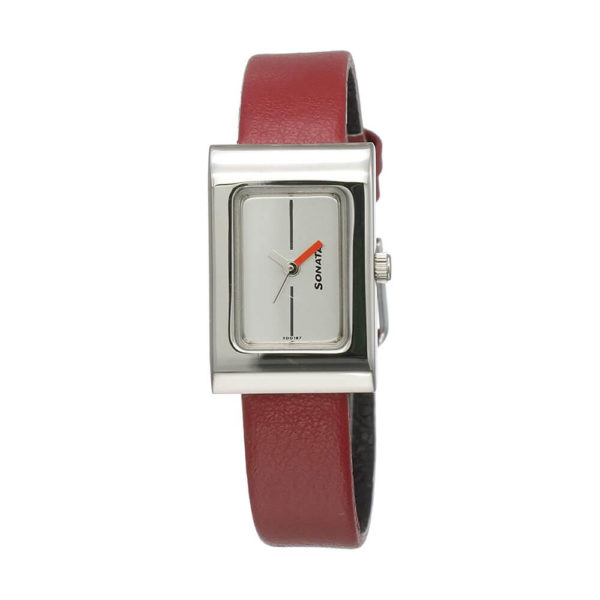 Sonata Analog White Dial Women's Watch -NL8102SL03
