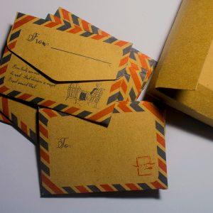 Retro Vintage Kraft Paper Envelopes - 10 Pcs Postcard Envelope Gifts