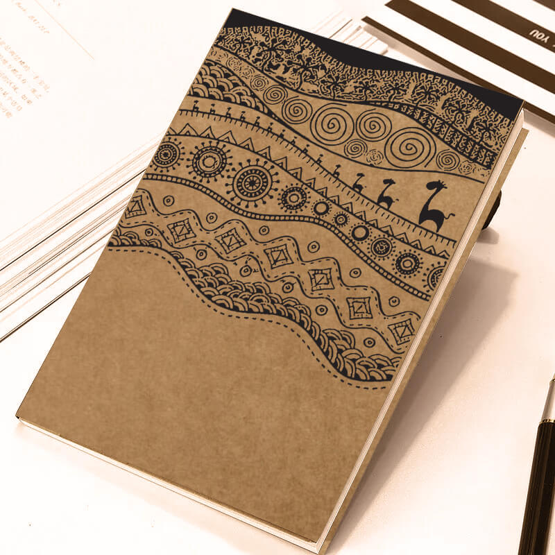 Vintage African Traditional Pattern A5 Notebook