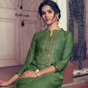 Fancy Lining Silk Work Kurti