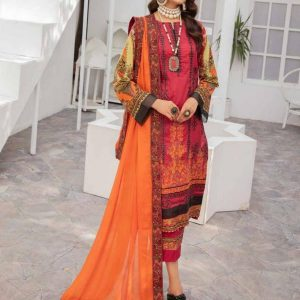 Digital Printed Embroidered Lawn Suits