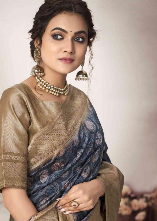 Silk Digital Print Wedding Saree