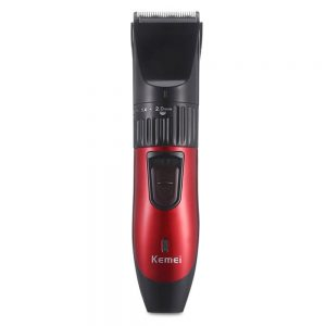 KM-730-Kemei-Rechargeable-Hair-Clipper-Trimmer-For-Men-Black-Red