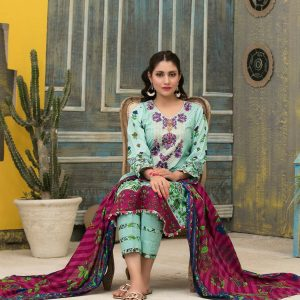 Lawn-Print-Salwar-Suits-and-Dupatta-with-Embroidery