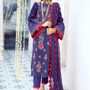 Embroidered Unstitched Lawn Suits