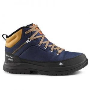 MENS-SNOW-SHOES-SH100-WARM-WATERPROOF-MID-ANKLE-BLUE