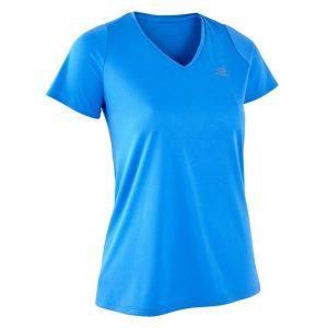 WOMENS-RUNNING-T-SHIRT-RUN-DRY-BLUE